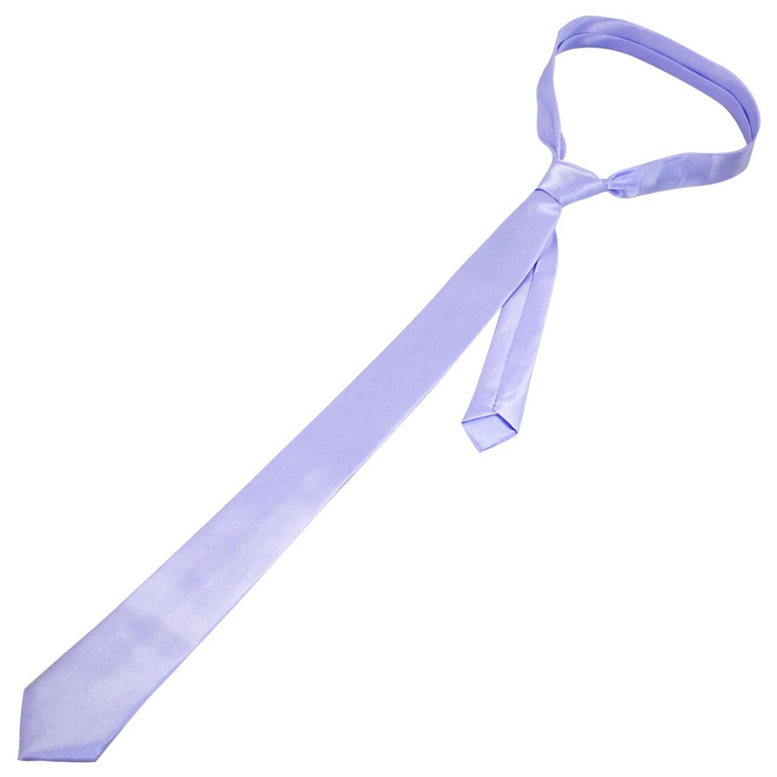 "Violet 1.4"" Width Self Tie Style Neckwear Necktie for Ladies"