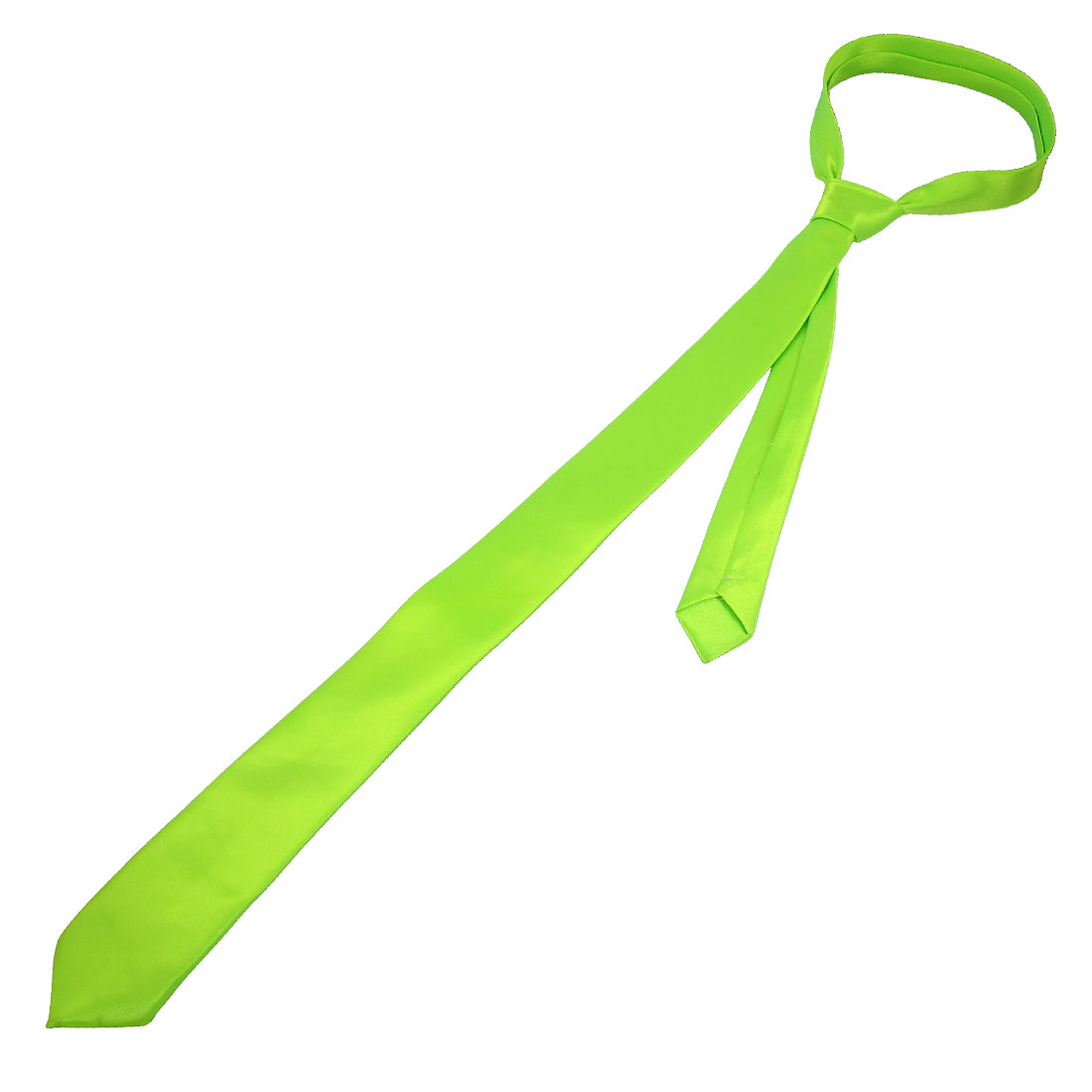 """1.4"""" Width Bright Green Self Tie Neck Tie Necktie Adornment for Ladies"""