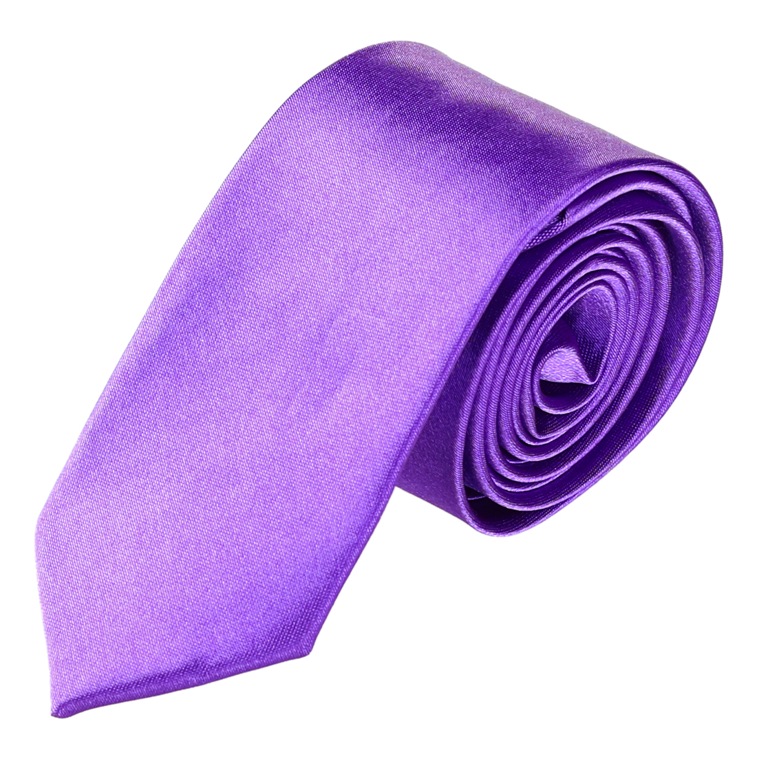 "Suits Detail 2"" Wide Amaranth Polyester Self Tie Skinny Necktie for Woman"