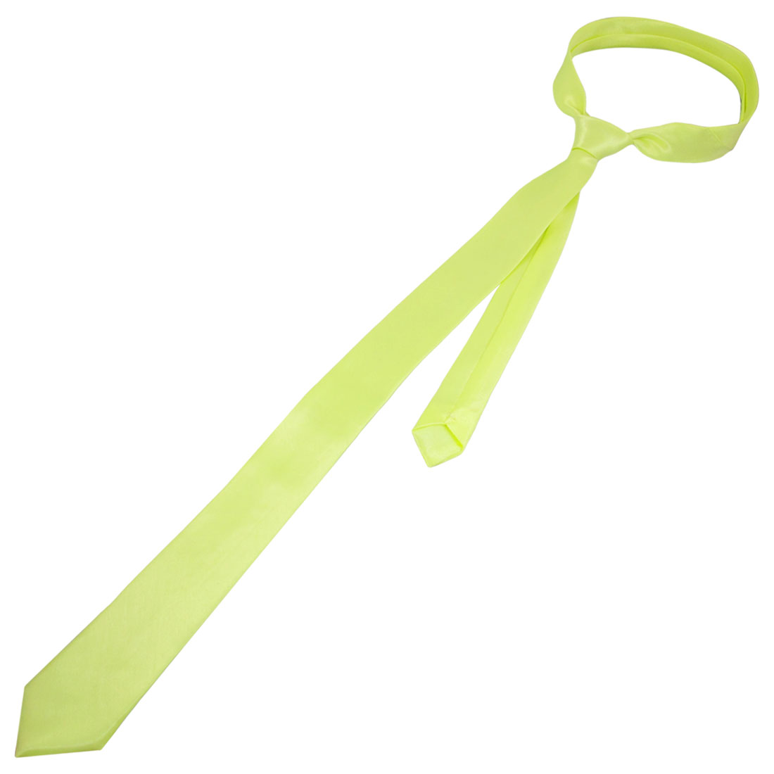"Light Yellow 1.4"" Width Self Tie Neck Tie Necktie for Women"