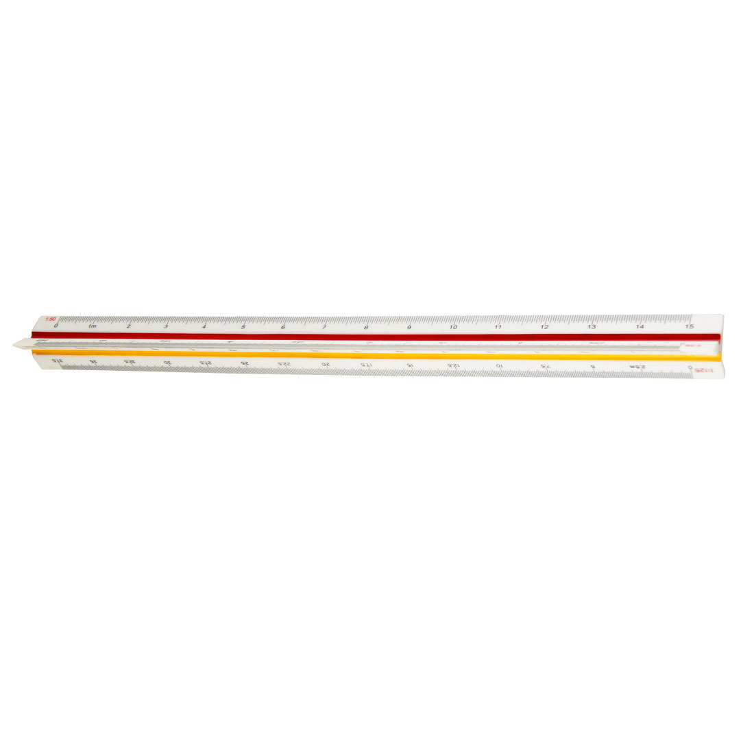 30cm Plastic Red Yellow Green Triangular Scale Ruler 1:20 1:25 1:50 1:75 1:100