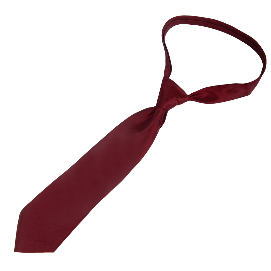 Suits Detail 10cm Wide Burgundy Polyester Self Tie Necktie for Men