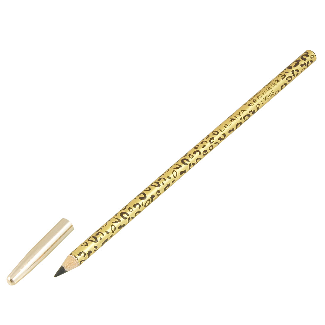 Black Tip Leopard Prints Eyeliner Pens Pencils Makeup Tool Gold Tone Brown