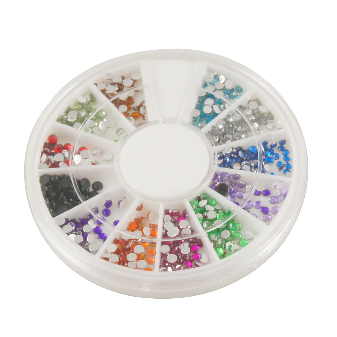 Multi Color Glitter Rhinestud 3D Nail Art Stickers for Lady Women
