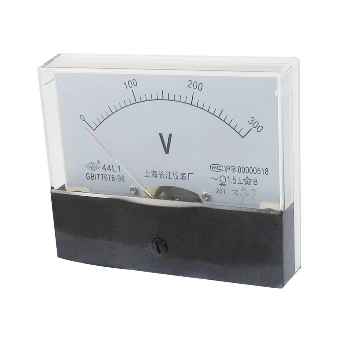 AC 0-300V Rectangle Shape Analog Volt Voltage Needle Panel