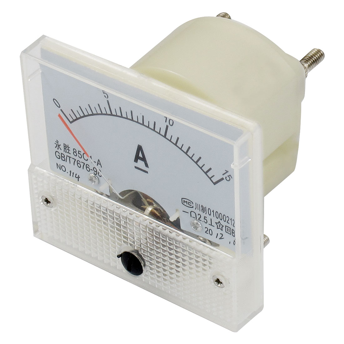 Class 2.5 Accuracy DC 0-15A Scale Range Analog Panel Meter Ammeter
