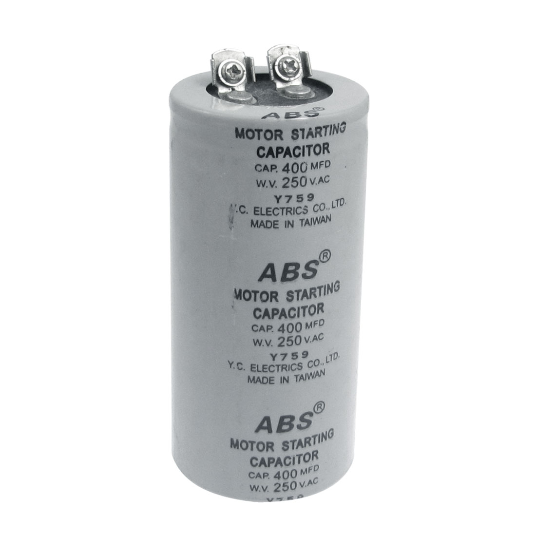 Metallized Polypropylene Film 400uF AC 250V Motor Starting Capacitor