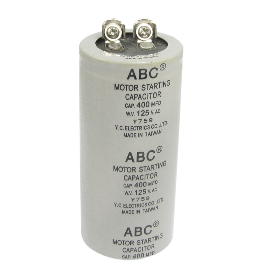 Motor Start up Capacitor Gray 400uF AC 125V for Washing Machine