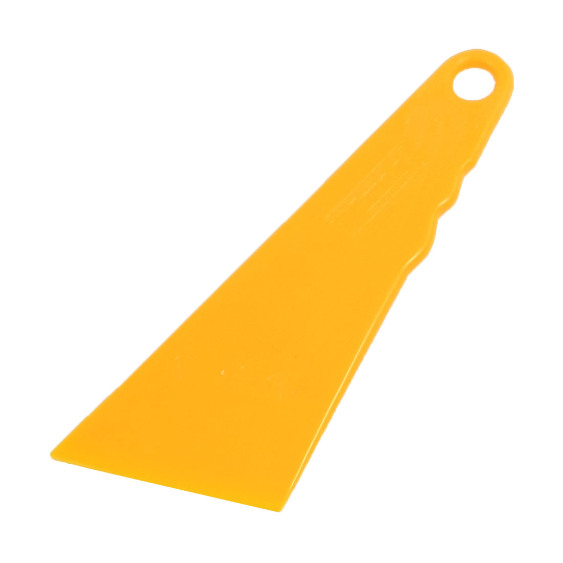 Car Orange Plastic Triangle Window Glass Cleaning Scraper Blade