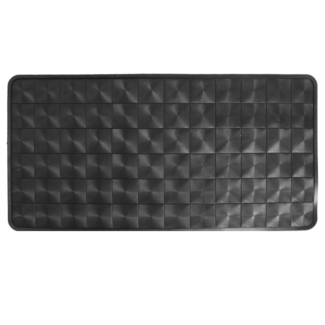 Auto Car Rectangle Mobile Phone Holding Nonslip Rubber Pad Mat Black