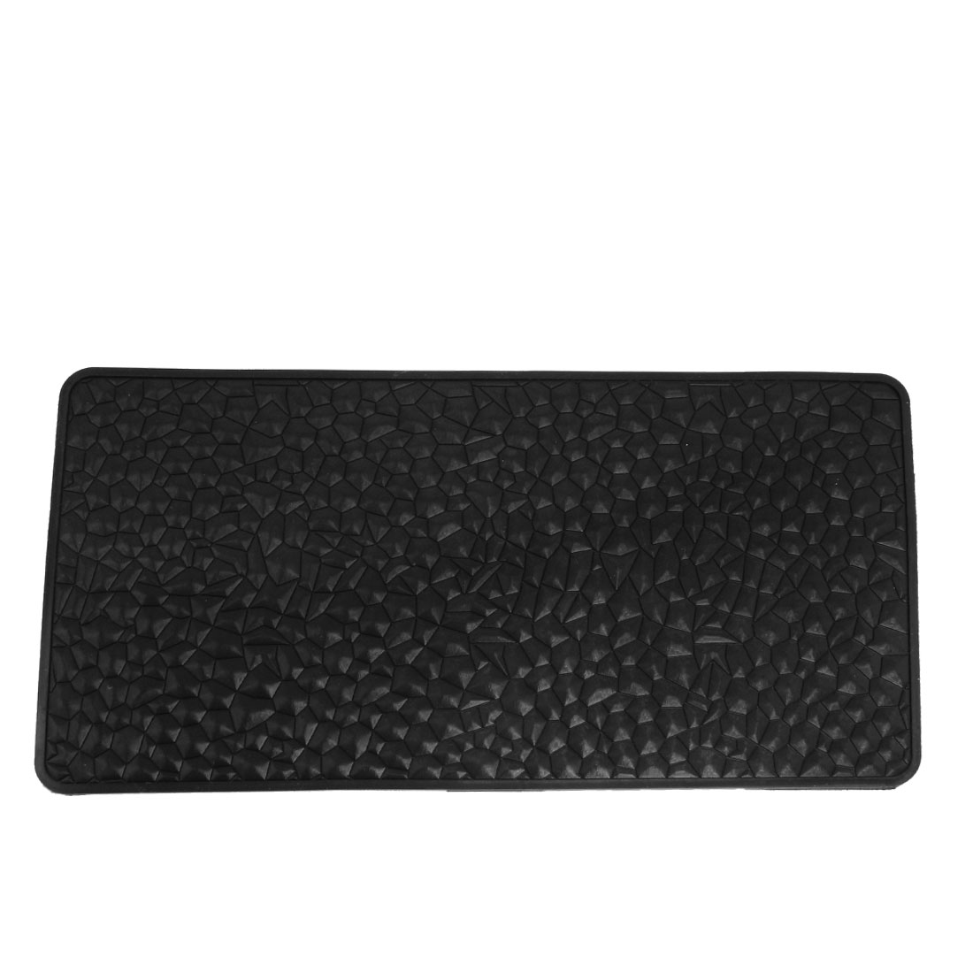Auto Car Textured Water Cube Style Phone Holding Nonslip Rubber Pad Mat Black