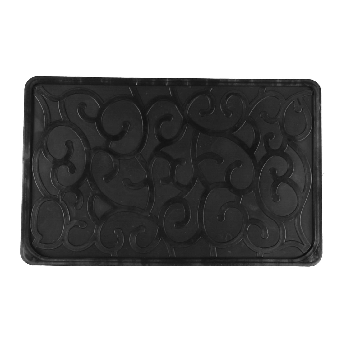 Auto Car Paisley Pattern Phone Holding Nonslip Rubber Pad Mat Black