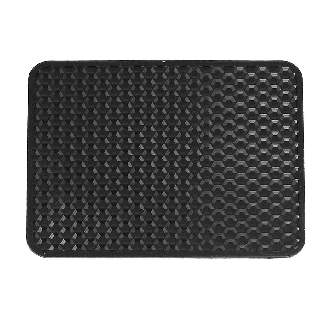 Auto Car Textured Mobile Phone Holding Nonslip Rubber Pad Mat Black