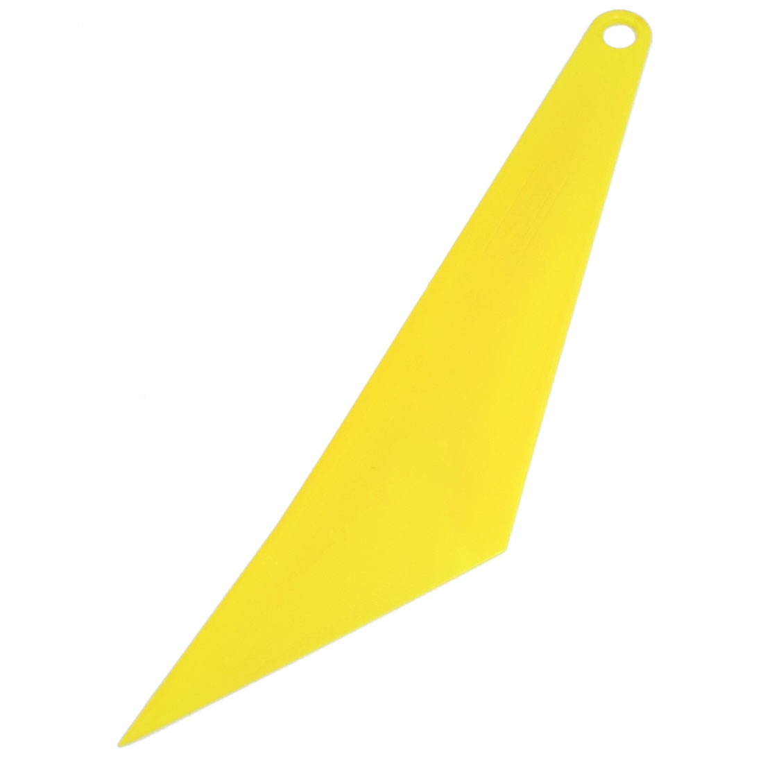 "Car Yellow Plastic Triangle Window Cleaning Scraper Blade 11.4"" Length"