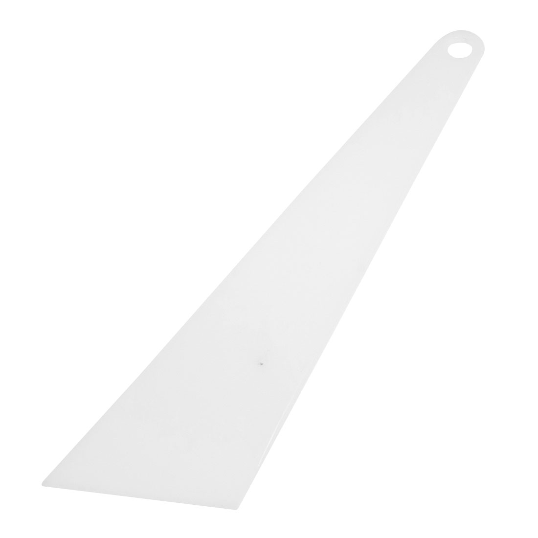Car White Plastic Triangle Window Glass Cleaning Scraper Blade 9.4""