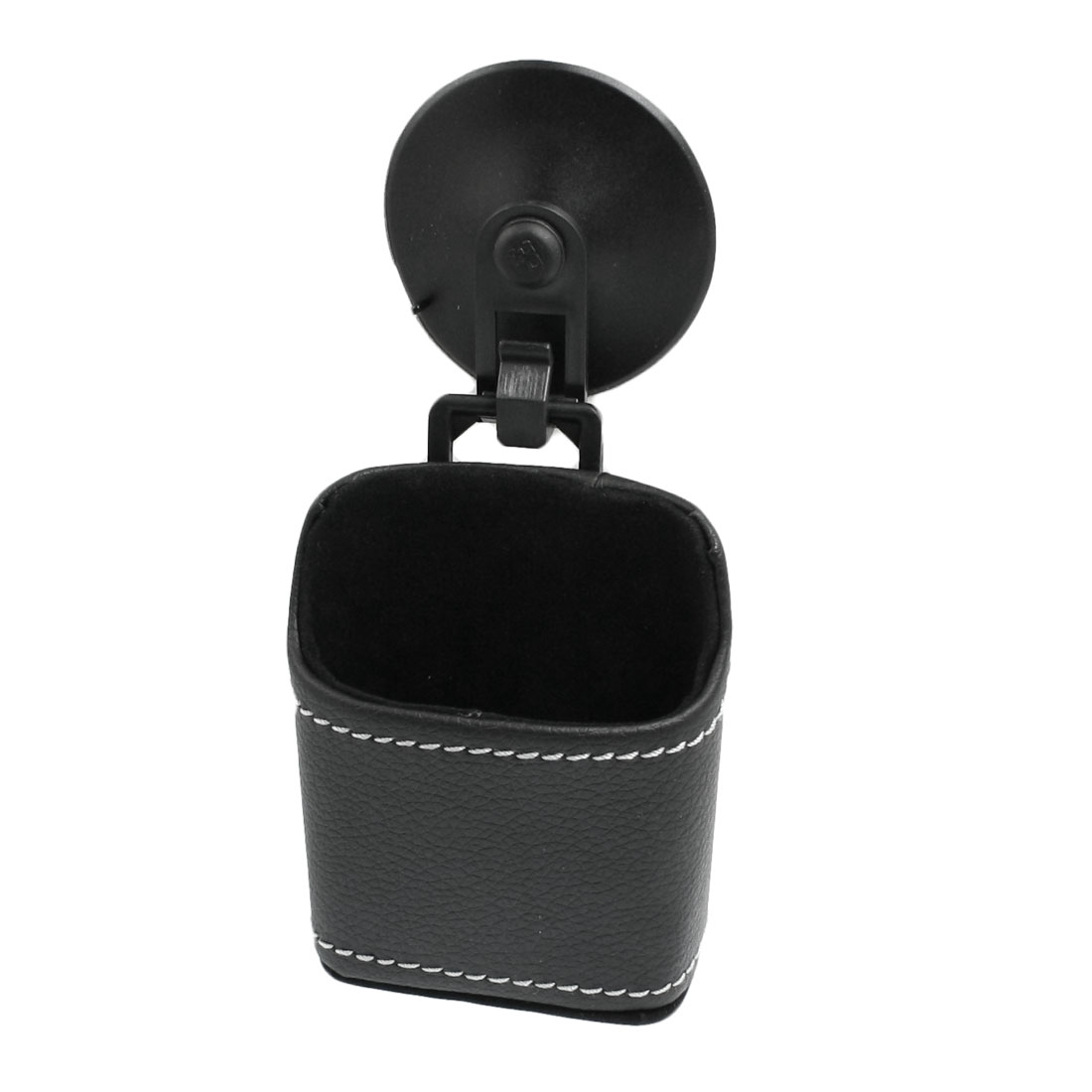 Black Faux Leather Mobile Phone Holder Pouch Bag for Car Auto
