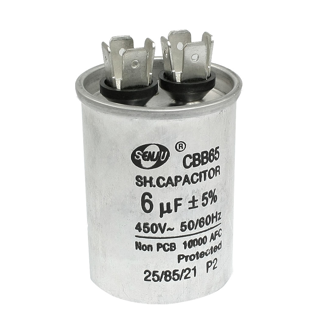 CBB65 Air Conditioner Polypropylene Film Motor Capacitor 6uF AC 450V