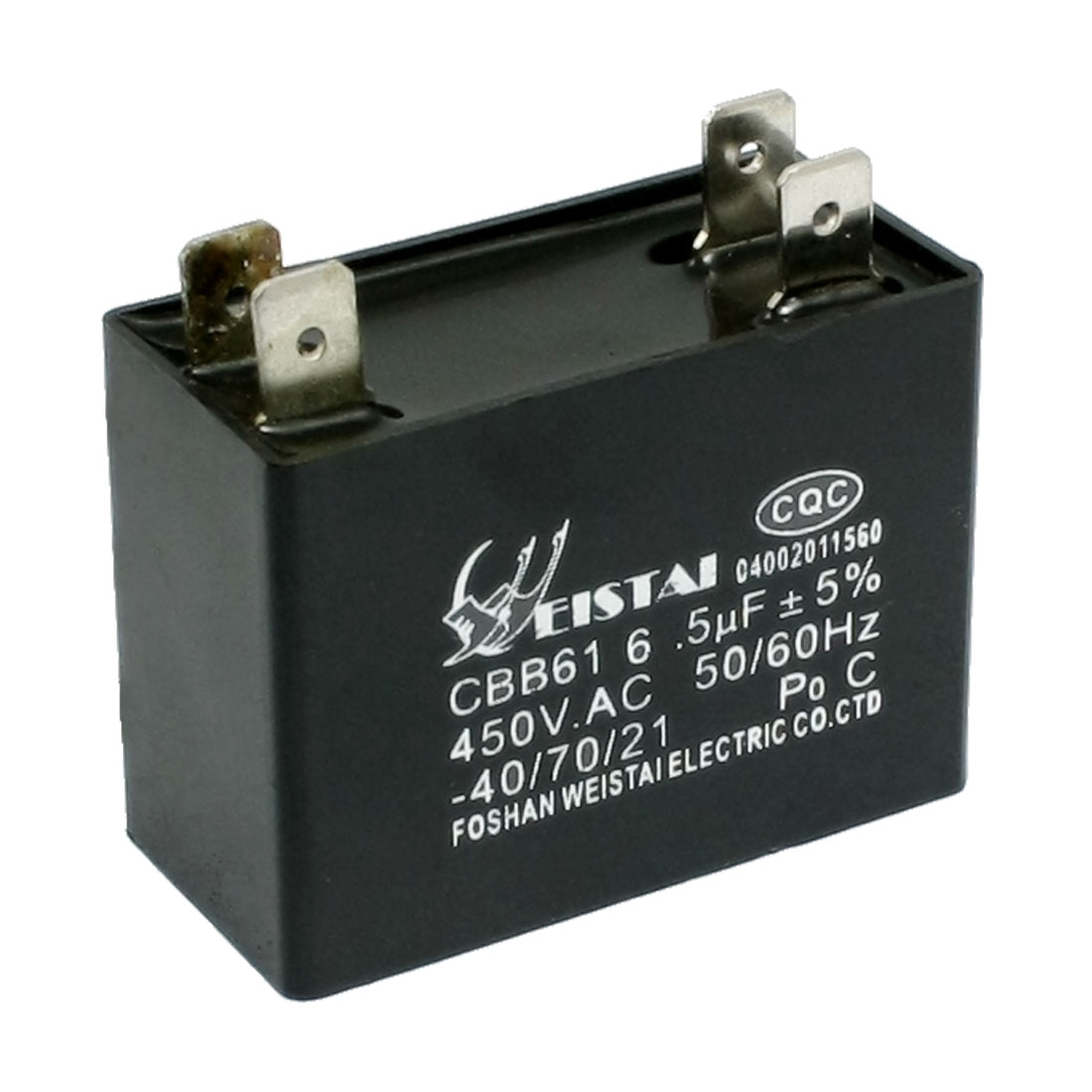 CBB61 6.5uF 50/60Hz DIP 4 Pins Motor Run Capacitor AC 450V