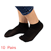 10 Pairs Soft Elastic Black Sheer Ankle Socks for Ladies