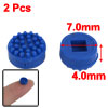 7.0mm OD 4.0mm Height Replacement Plastic TrackPoint Blue Cap 2 Pcs