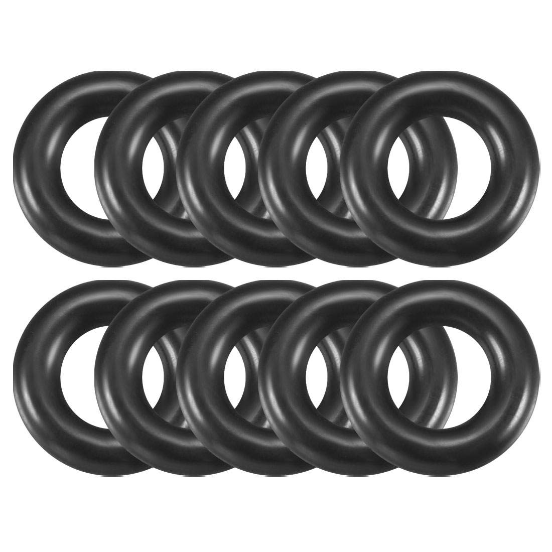 10 Pcs 14mm x 3.5mm x 7mm Mechanical Rubber O Ring Oil Seal Gaskets