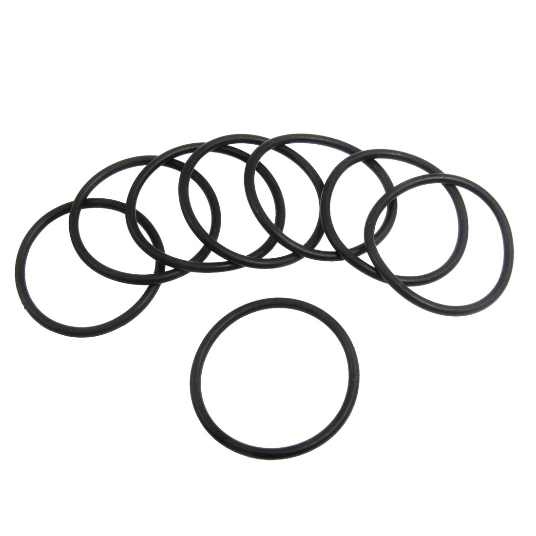 10 Pcs 35.5mm x 2.65mm Black Silicone O Rings Oil Seals Gaskets