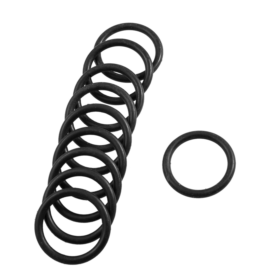 10 Pcs 31mm x 24mm x 3.5mm Mechanical Rubber O Ring Oil Seal Gaskets