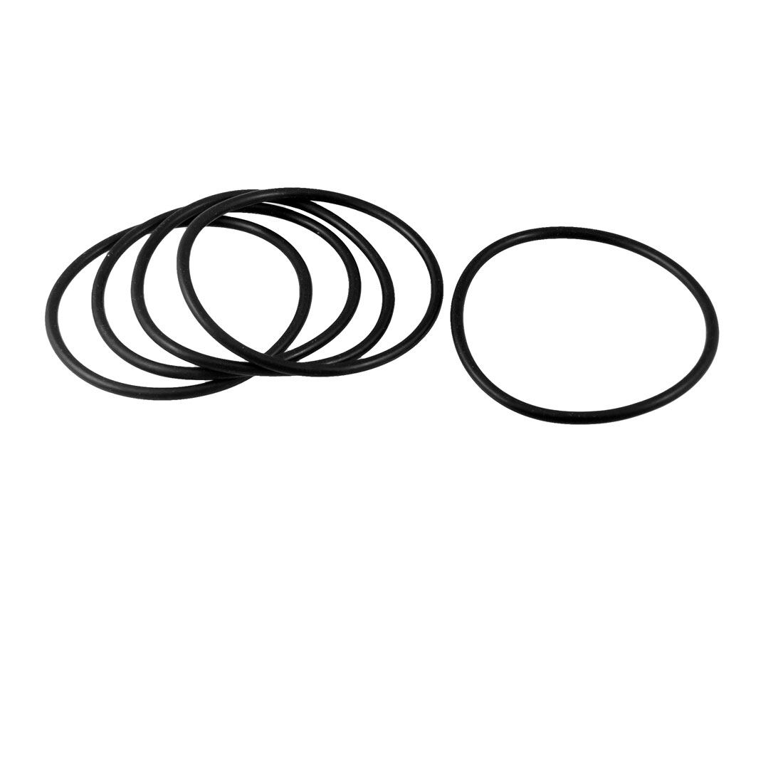 5 Pcs Flexible Rubber Sealing Oil Filter O Rings Gaskets 59mm x 52mm x 3.5mm