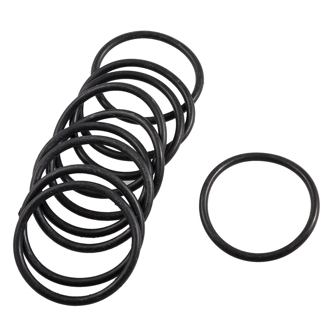 10 Pcs 48mm x 41mm x 3.5mm Mechanical Black Rubber O Ring Oil Seal Gaskets