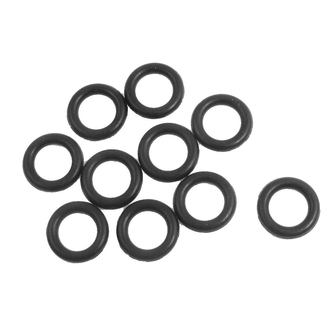 10 Pcs 8.5mm x 2.65mm Black Silicone O Rings Oil Seals Gaskets