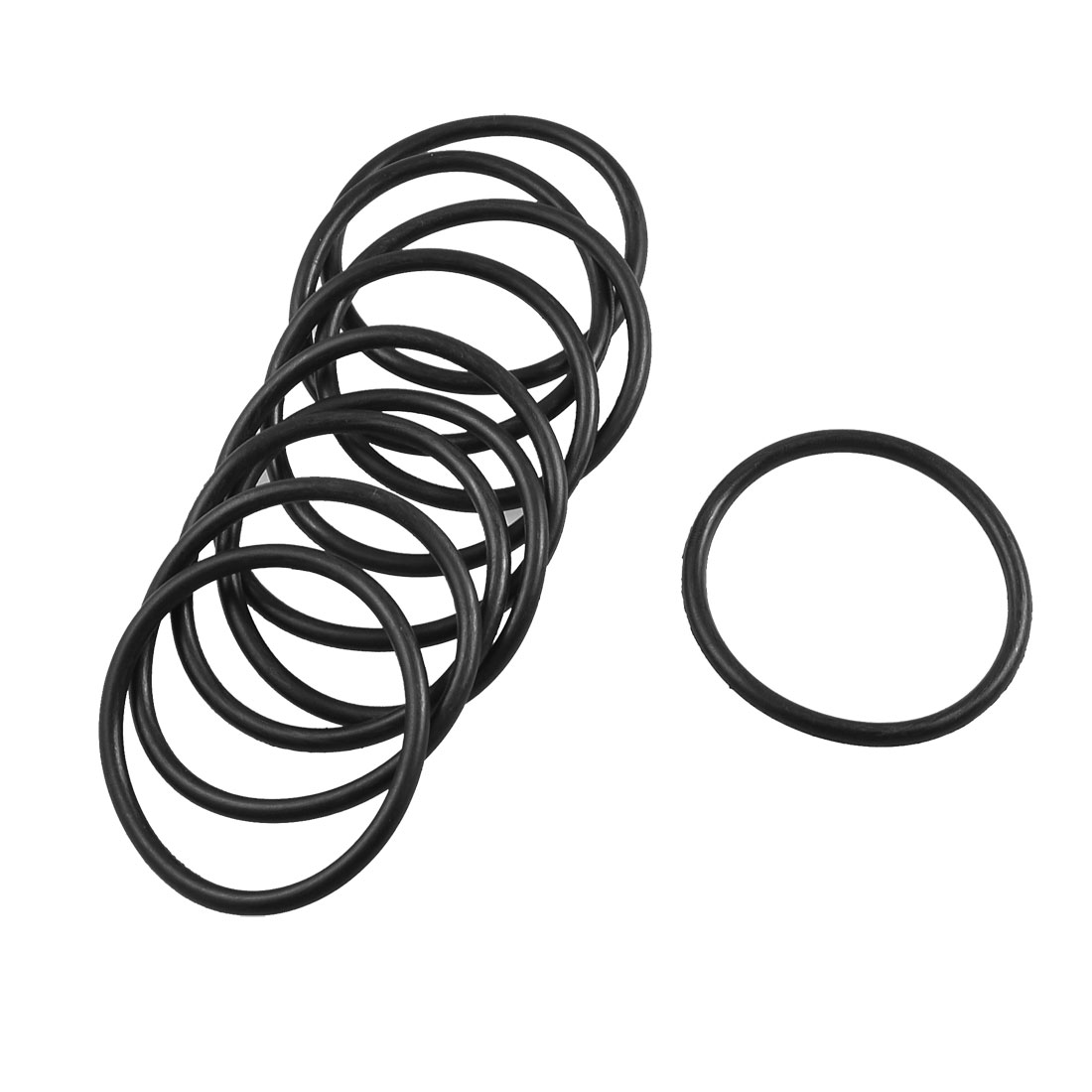 10 Pcs Mechanical Flexible Rubber O Ring Oil Seal Gaskets 41mm x 34mm x 3.5mm