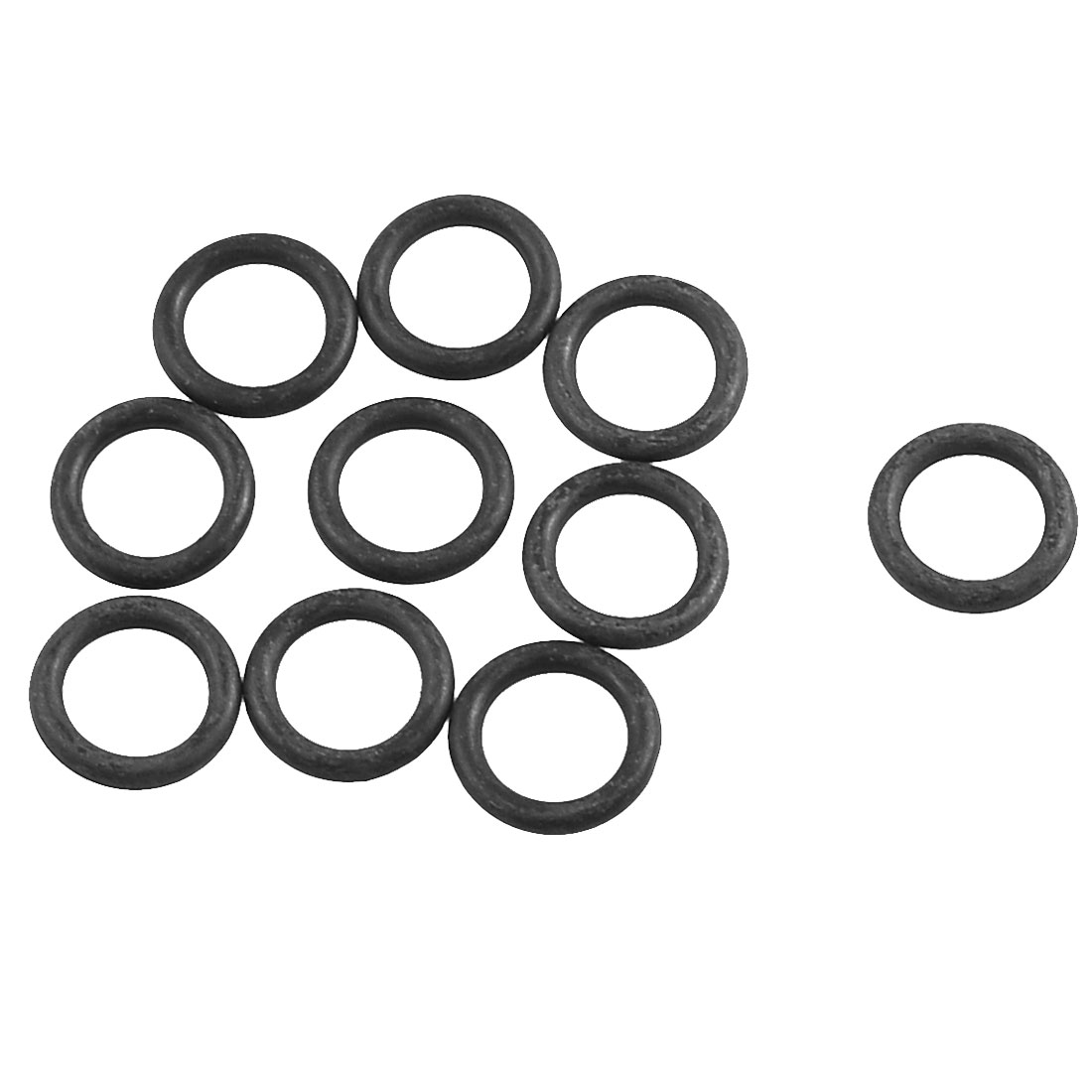 10 Pcs 16.5mm x 11.2mm x 2.65mm Flexible Rubber O Ring Oil Seal Gaskets Black