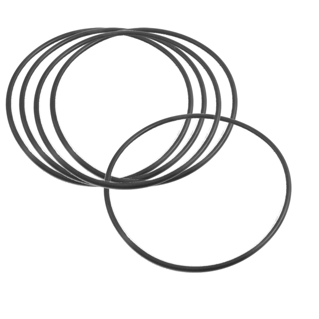 5 Pcs 106mm x 3.5mm Black Silicone O Rings Oil Seals Gaskets