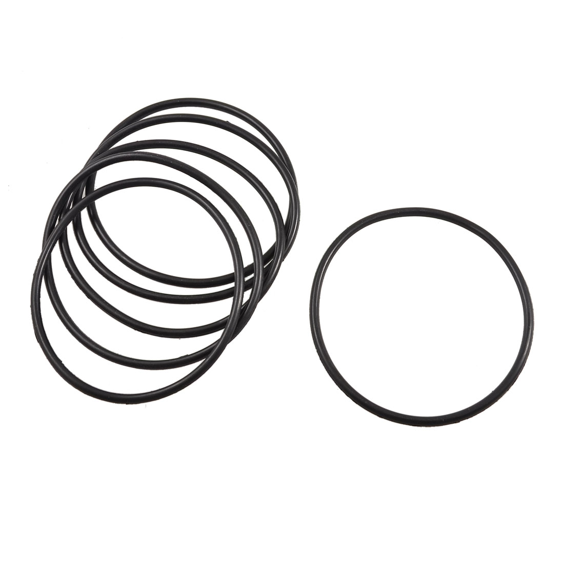 5 Pcs 85mm x 78mm x 3.5mm Mechanical Flexible Rubber O Ring Oil Seal Gaskets