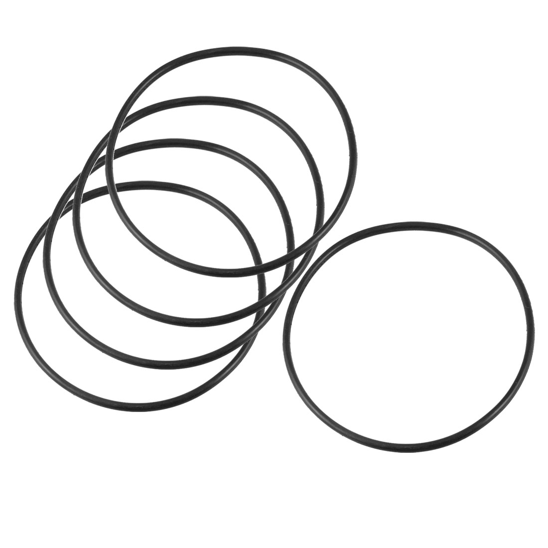 115mm x 3.5mm x 108mm Rubber Sealing Oil Filter O Rings Gaskets 5 Pcs
