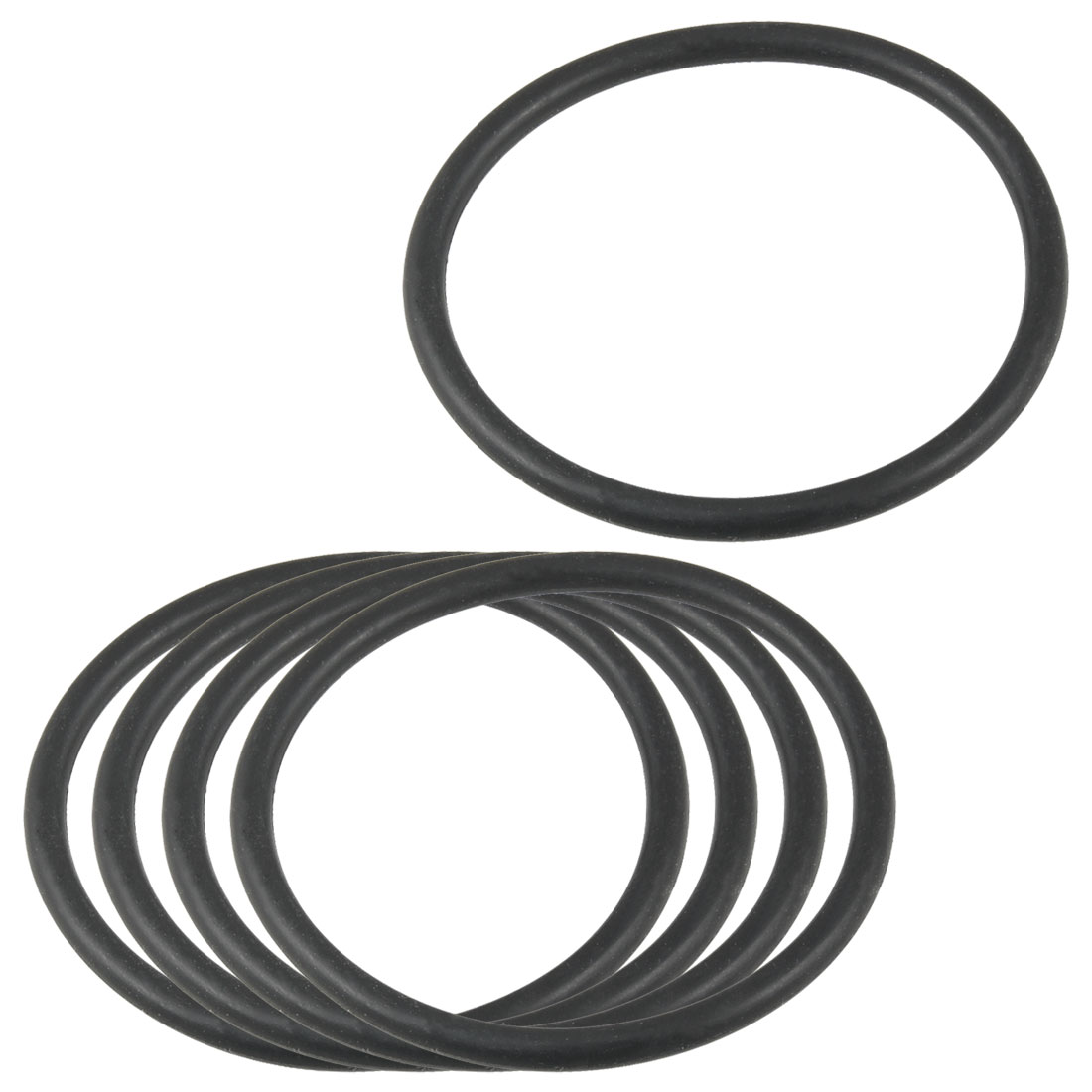 5 Pcs 54mm x 47mm x 3.5mm Flexible Rubber O Ring Seal Washer Black
