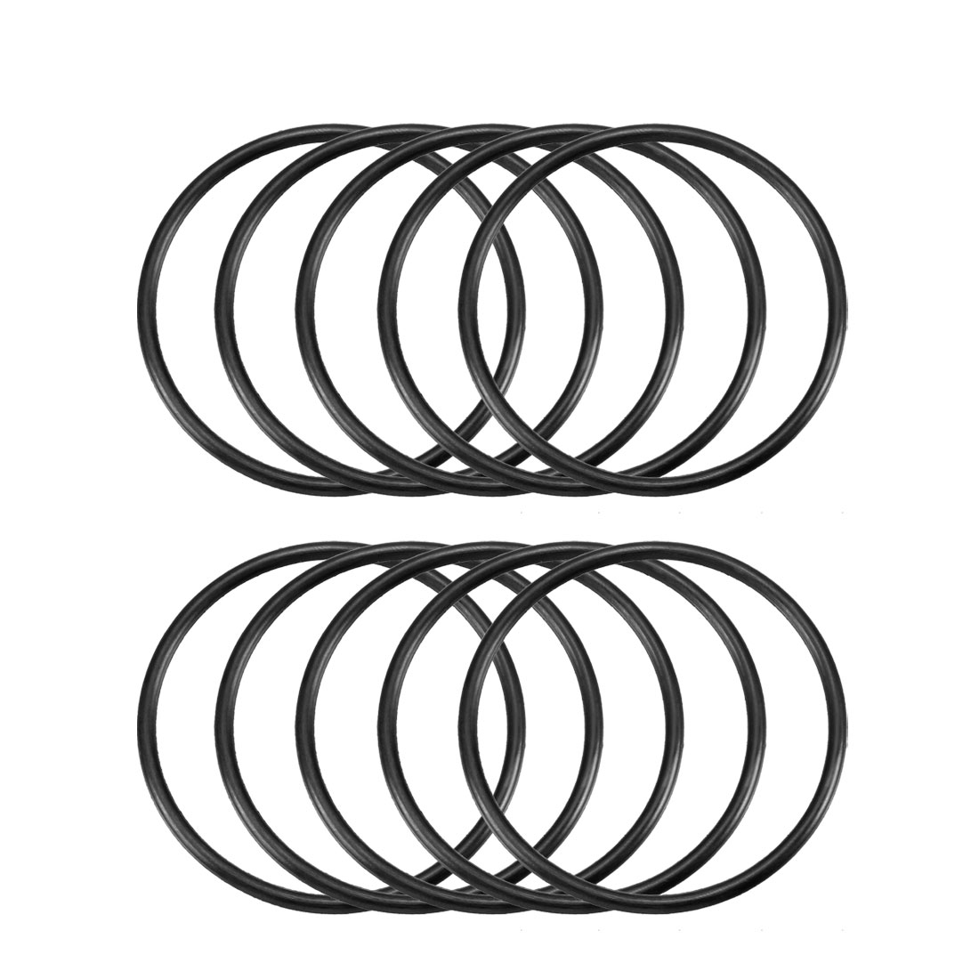10 Pcs 58mm x 3.1mm Black Silicone O Rings Oil Seals Gaskets