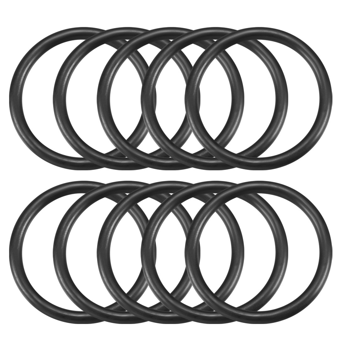 10 Pcs 37mm x 30mm x 3.5mm Industrial Rubber O Ring Oil Seal Gaskets
