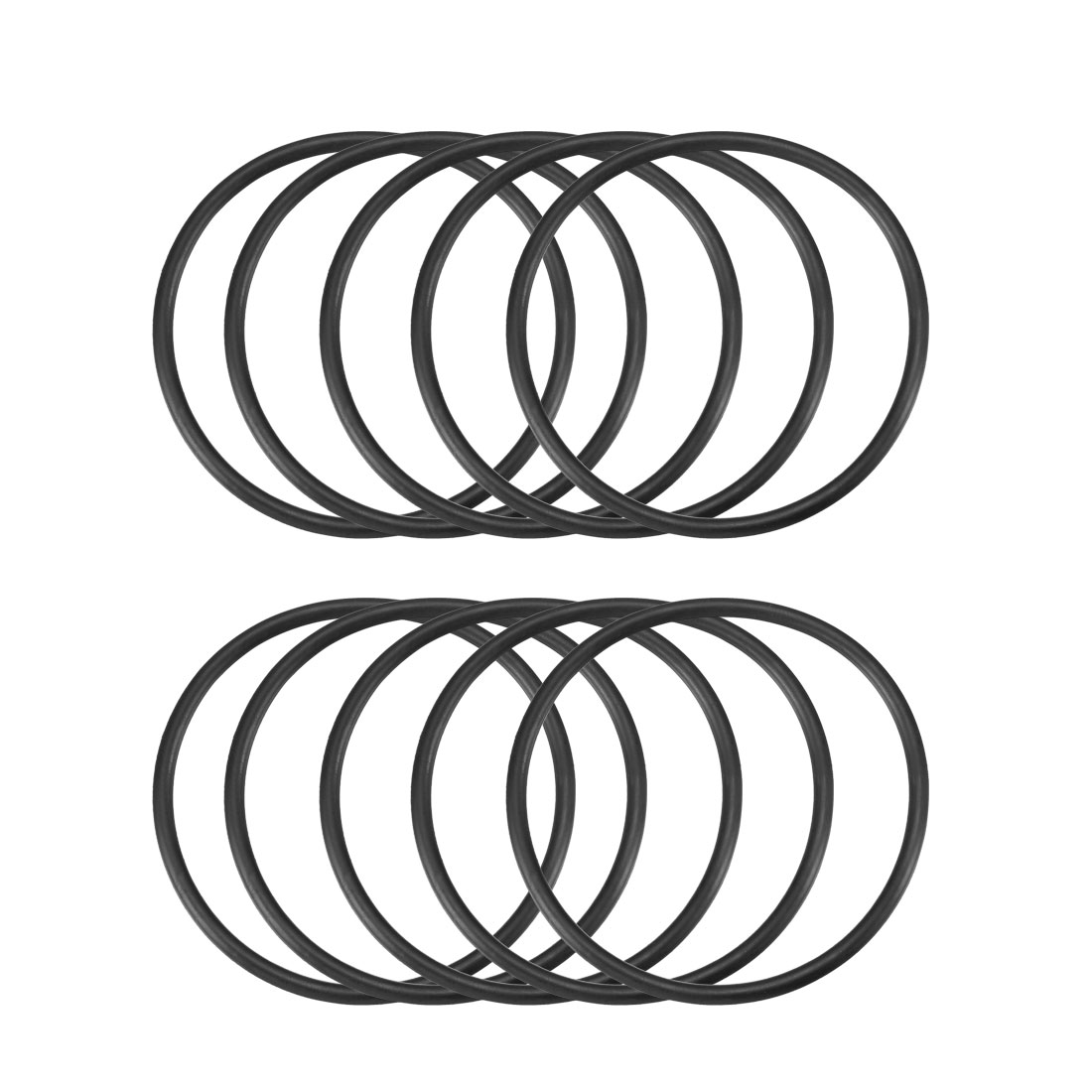 10 Pcs 56mm x 3.1mm Black Silicone O Rings Oil Seals Gaskets