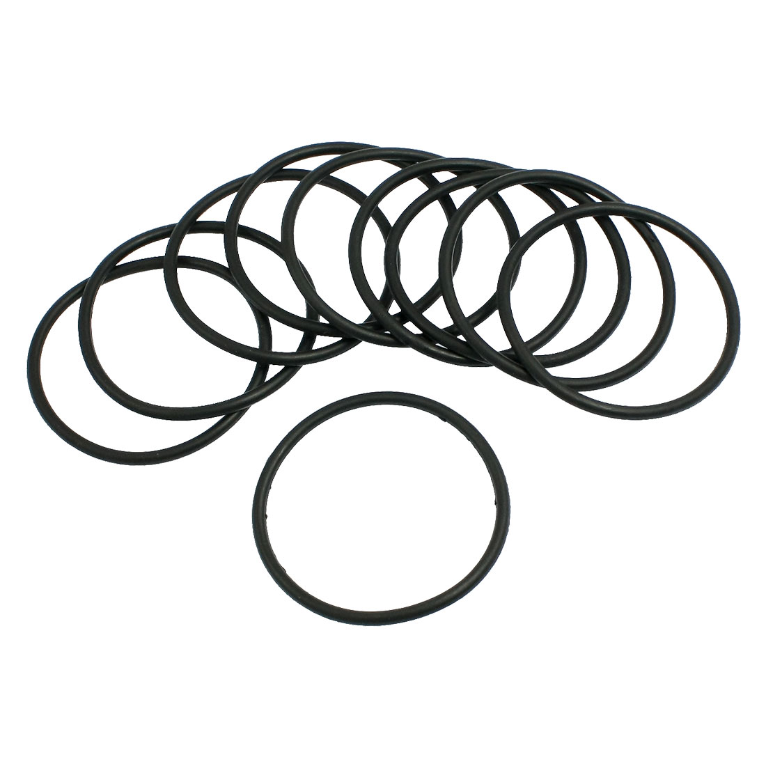 10 Pcs 55mm x 3.1mm Black Silicone O Rings Oil Seals Gaskets