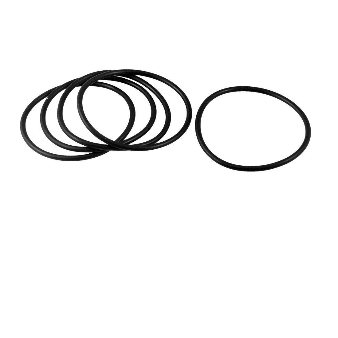 56mm x 3.5mm x 49mm Rubber Sealing Oil Filter O Rings Gaskets 5 Pcs