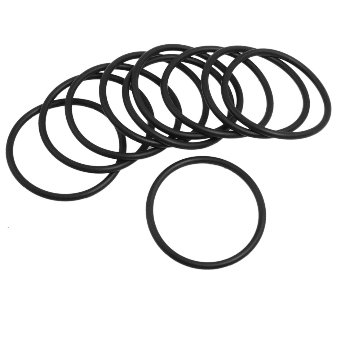 10 Pcs 54mm x 3.1mm Black Silicone O Rings Oil Seals Gaskets