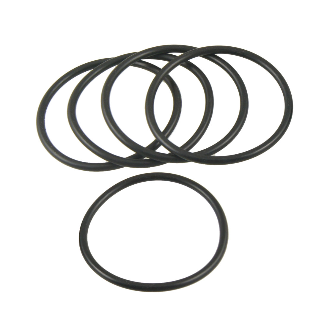 5 Pcs 60mm x 3.5mm x 53mm Flexible Rubber O Ring Seal Washer Black