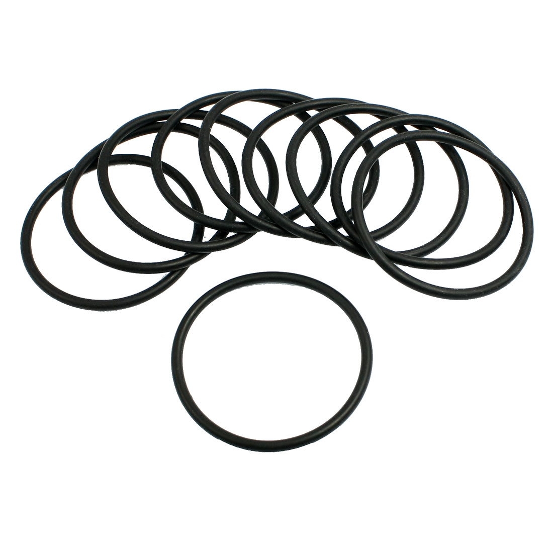 10 Pcs 53mm x 3.1mm Black Silicone O Rings Oil Seals Gaskets