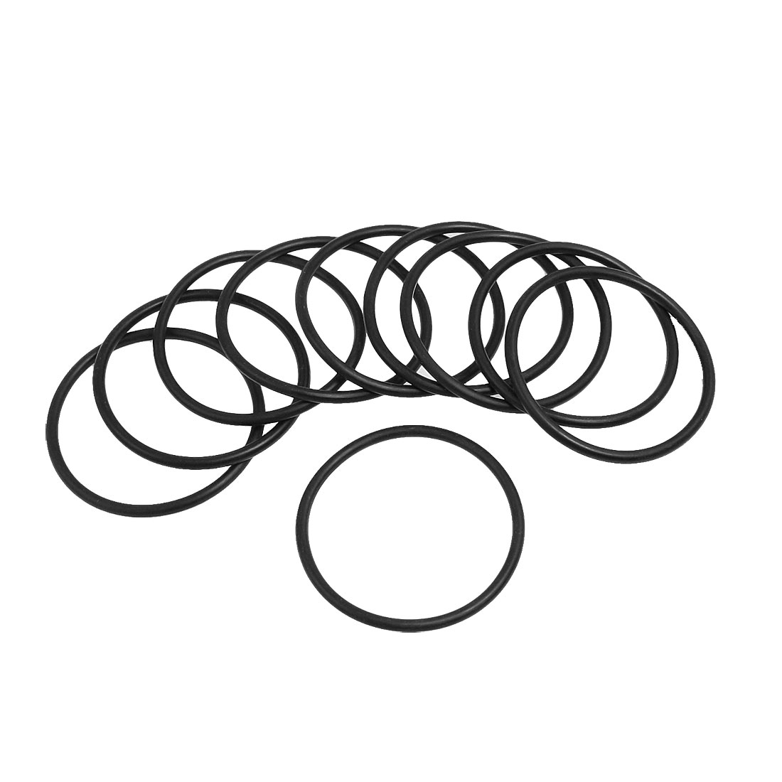 10 Pcs 52mm x 3.1mm Black Silicone O Rings Oil Seals Gaskets