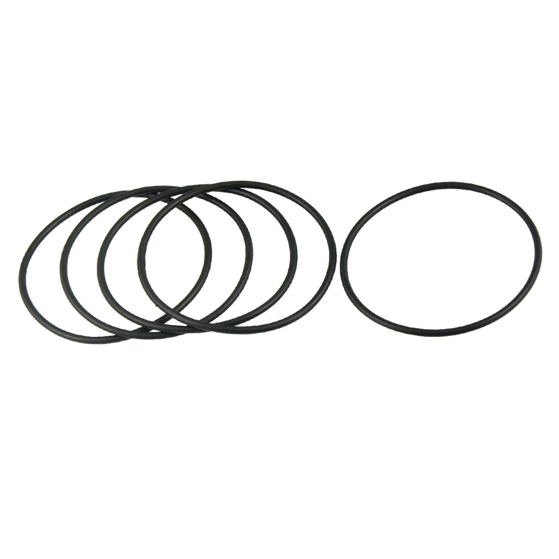 62mm x 2.4mm Flexible Rubber O Ring Sealing Washer Black 5 Pcs