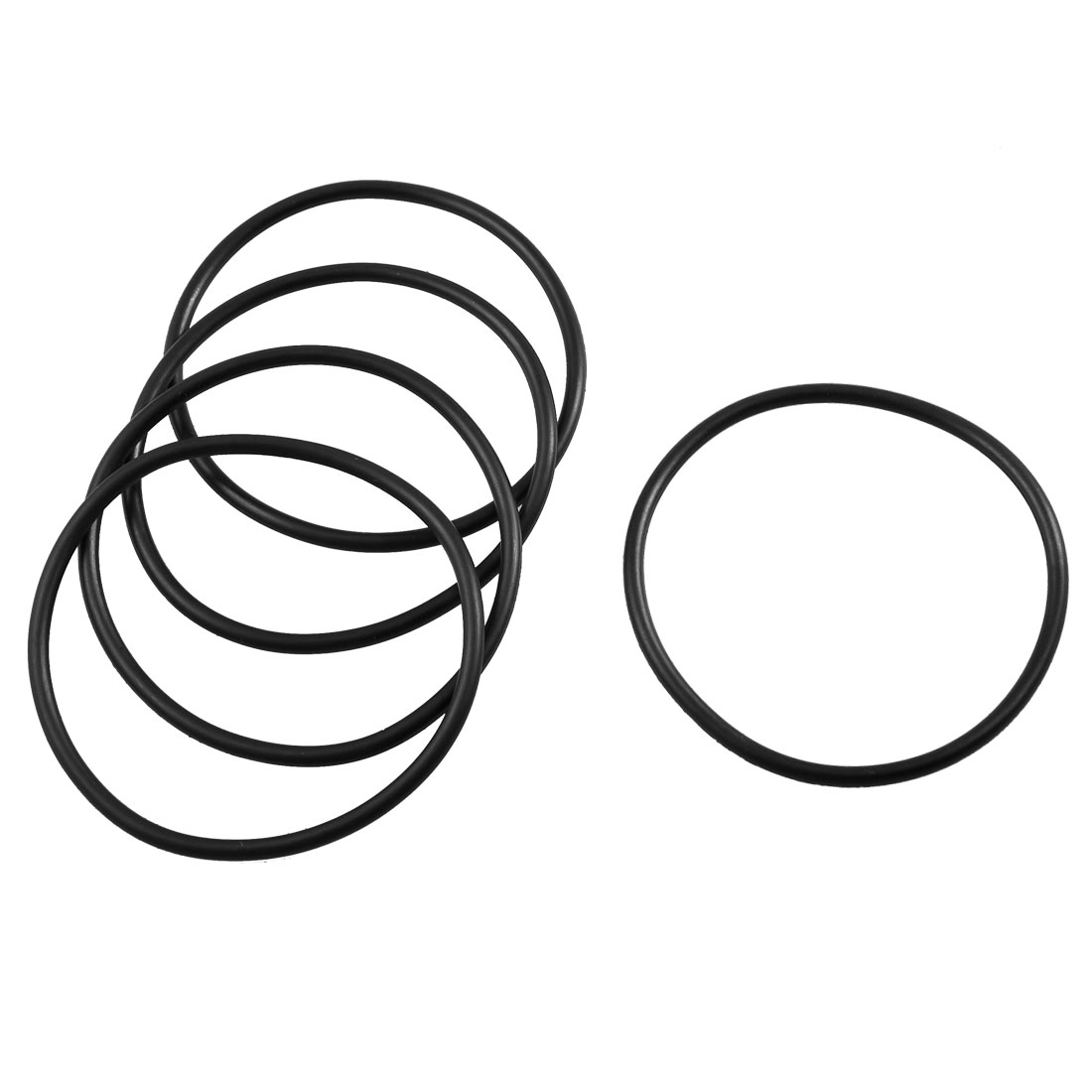 5 Pcs 76mm x 67mm x 3.5mm Mechanical Rubber O Ring Oil Seal Gaskets Black