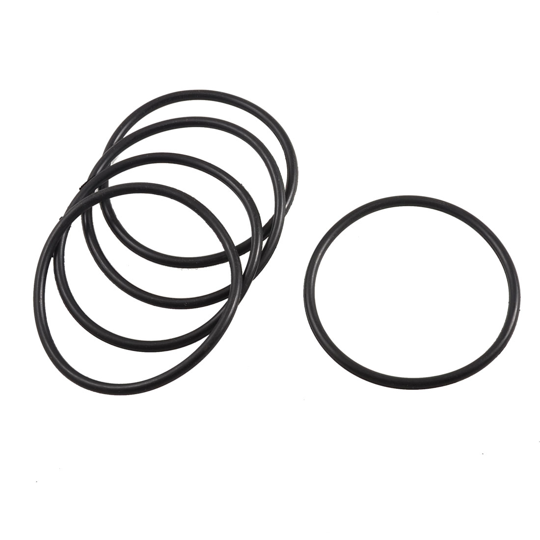 5 Pcs 70mm x 63mm x 3.5mm Flexible Black Rubber O Ring Oil Seal Gaskets