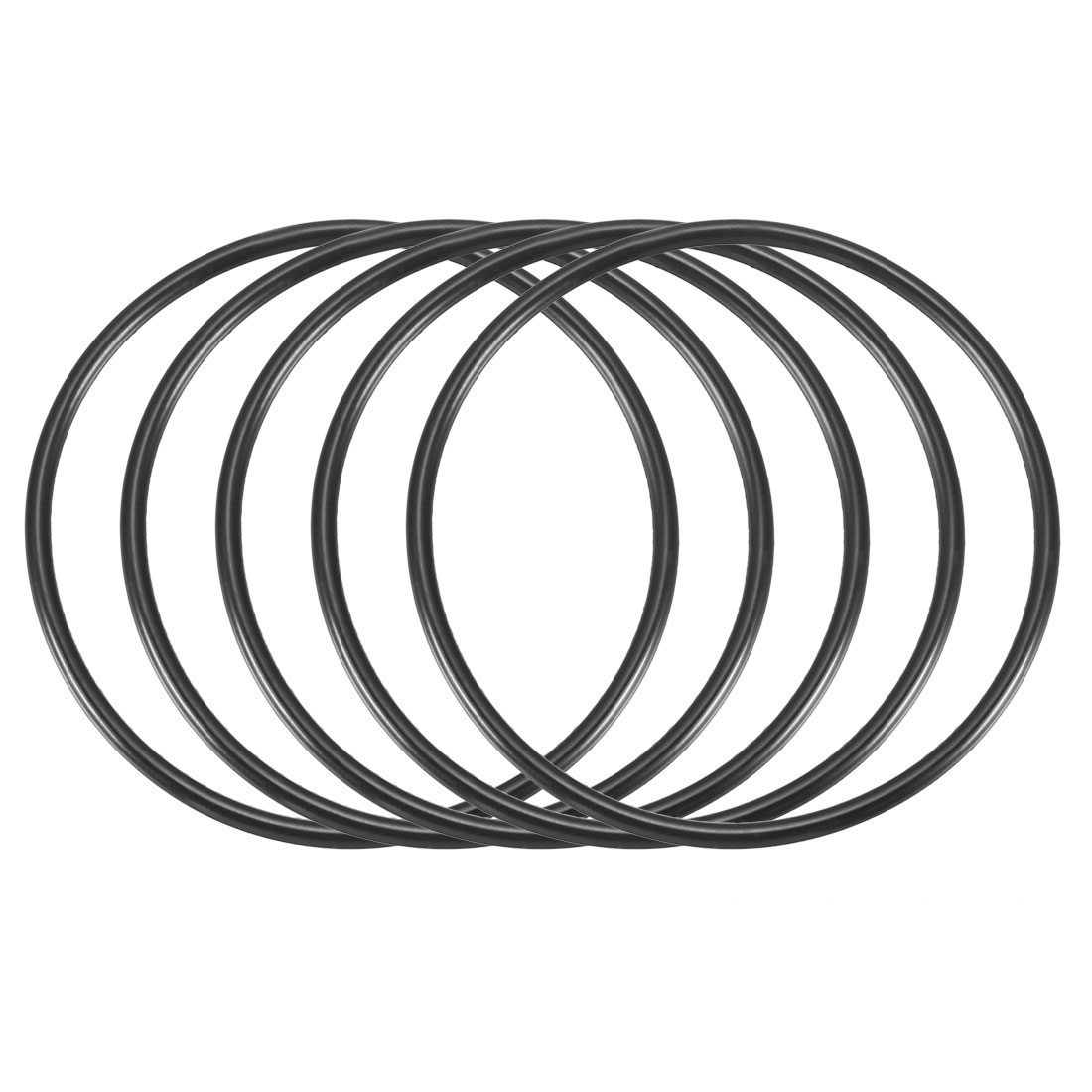 5 Pcs 55mm x 2.4mm Black Silicone O Rings Oil Seals Gaskets