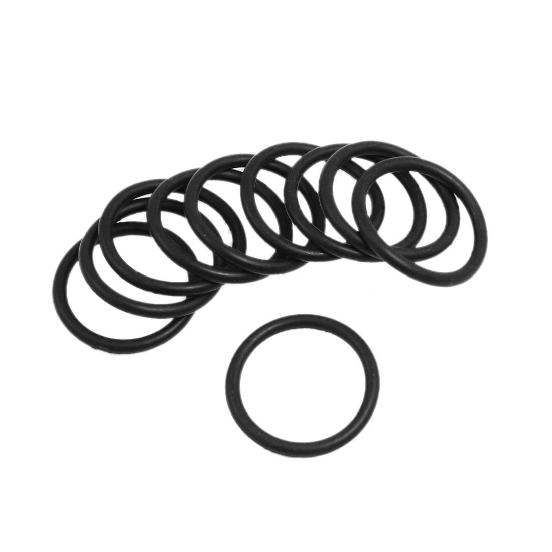 10 Pcs 36mm x 3.5mm Black Silicone O Rings Oil Seals Gaskets